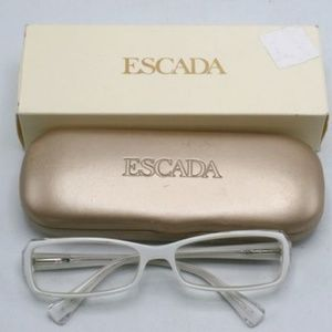 WHITE & CLEAR ESCADA NON PRESCRIPTION FRAMES CutE!